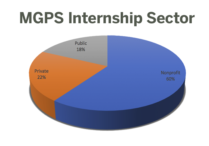 LBJ 2018 MGPS internships by sector