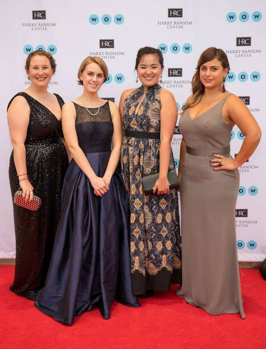 Students at Harry Ransom Center Gala