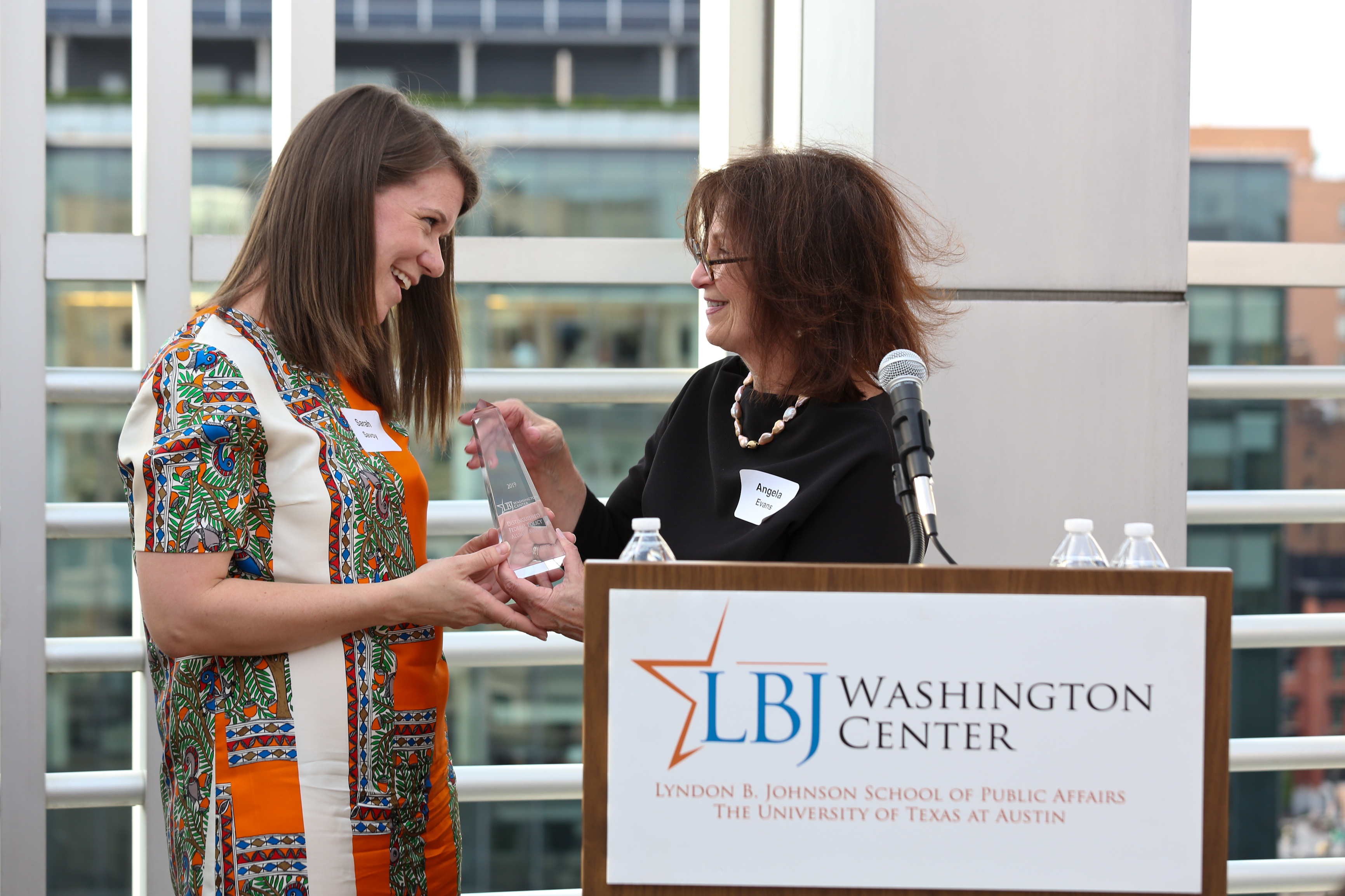 LBJ School alum Sarah Williams Savoy (MPAff '10), winner of the Distinguished Federal Policy Alumni Award