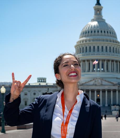 LBJ dual degree student Abby Attia on Capitol Hill