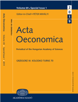 Cover of the journal Acta Oeconomica