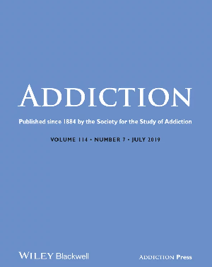 Cover of the journal Addiction