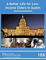 Cover of Policy Research Project, A Better Life for Low-Income Elders in Austin