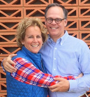 Ann Gill Howard (MPAff '88) and her husband, John