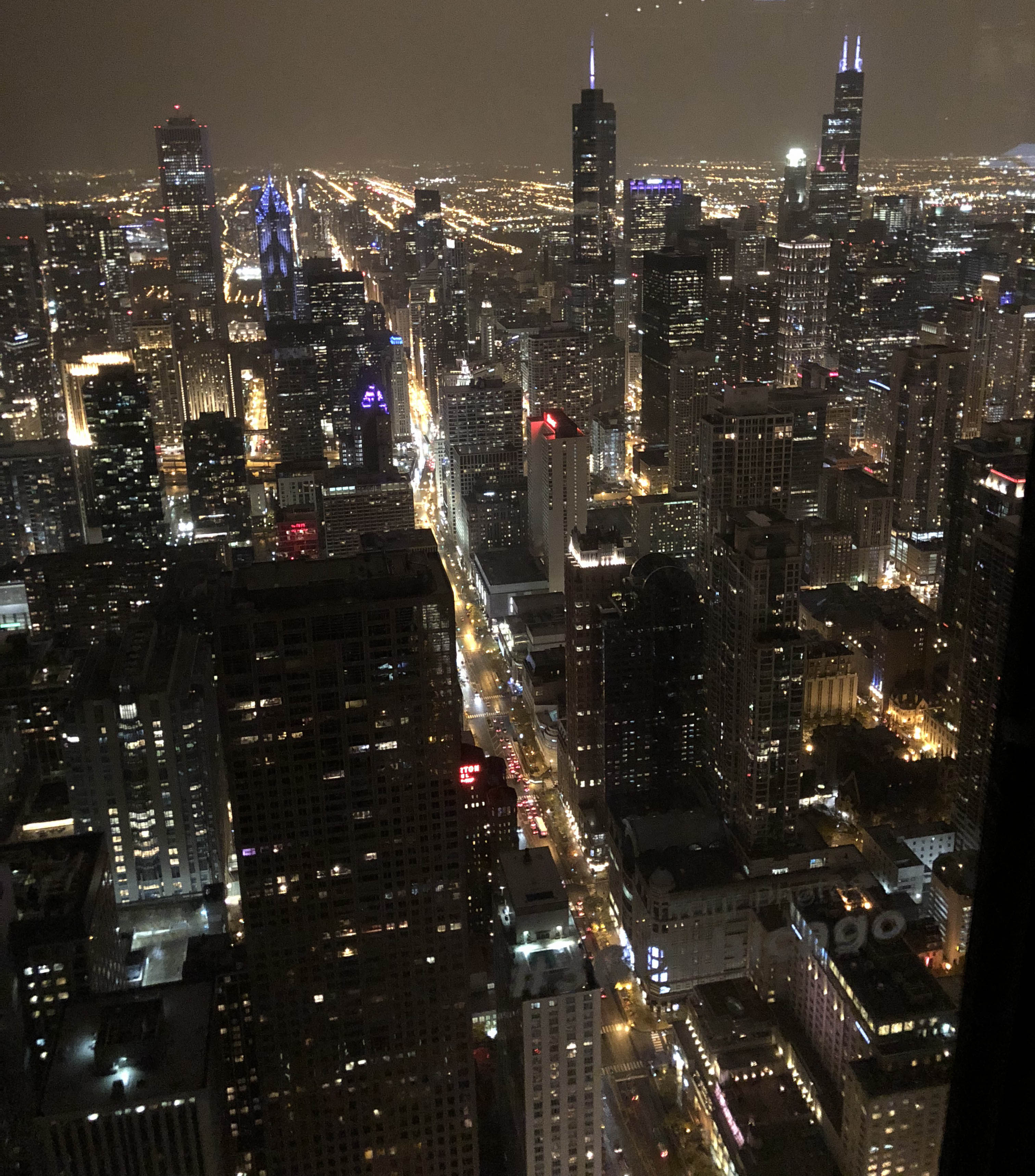 The view from the 94th floor of 875 N. Michigan Ave.