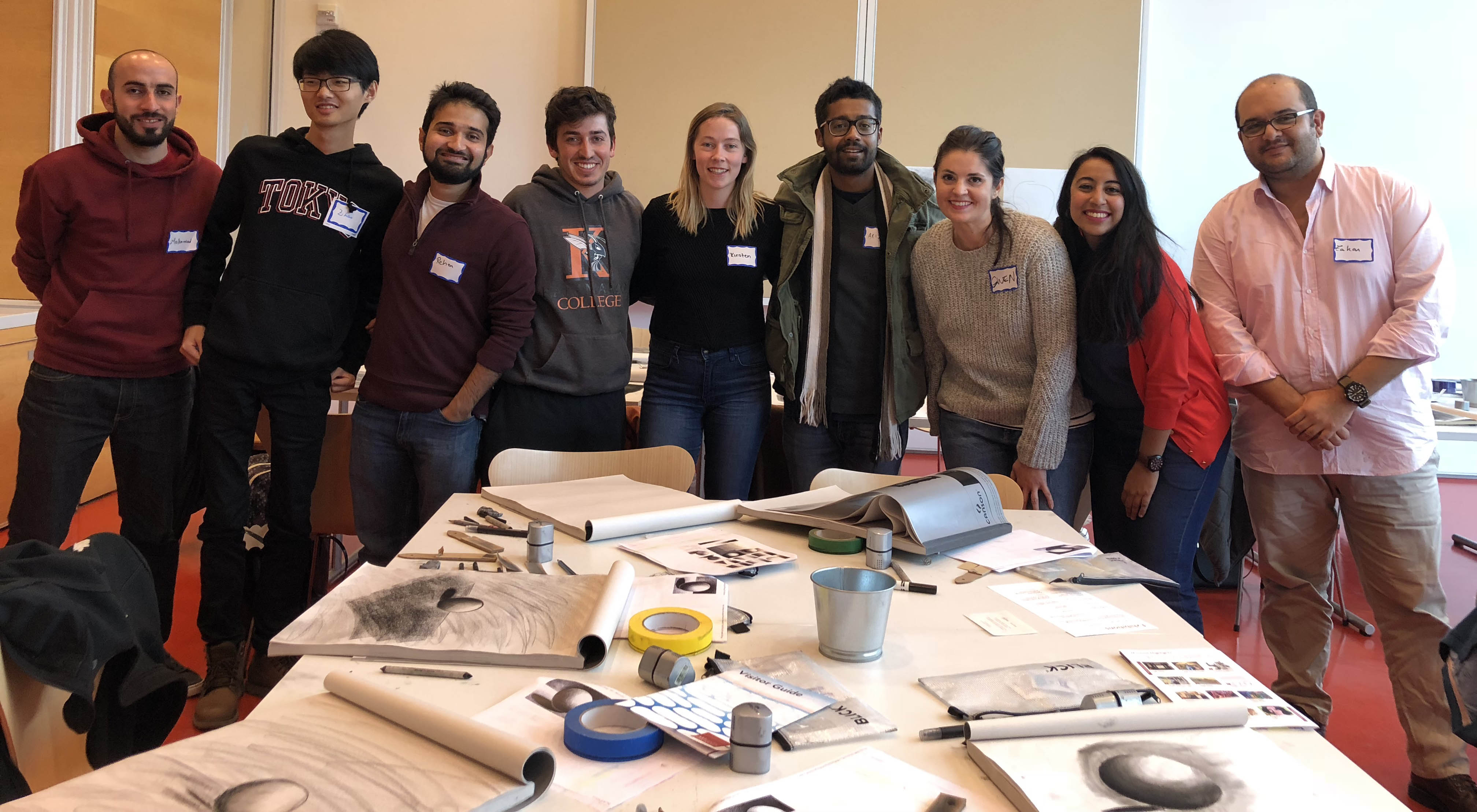 A group of LBJ international master's degree students visit the Art Institute of Chicago as part of a weekend sponsored by the Bollinger Fund.