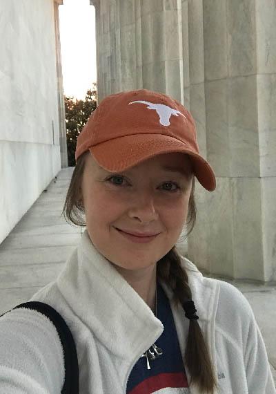 LBJ MGPS student Brittany Horton in Washington, DC