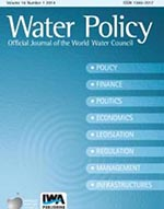 Cover of the Water Policy journal