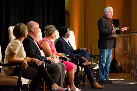 Mack Brown speaks at Texas Edge event