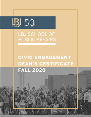 LBJ School Civic Engagement Program, Fall 2020
