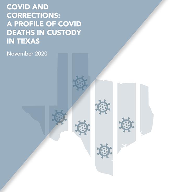 Deitch: COVID-19 TX Prisons report cover—11.9.20