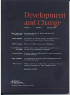 Cover of the journal Development and Change
