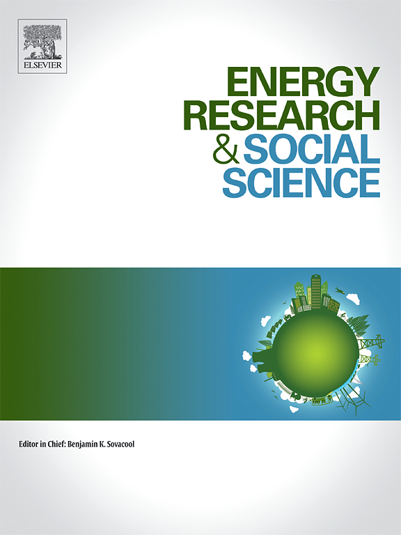 Cover of Energy Research & Social Science