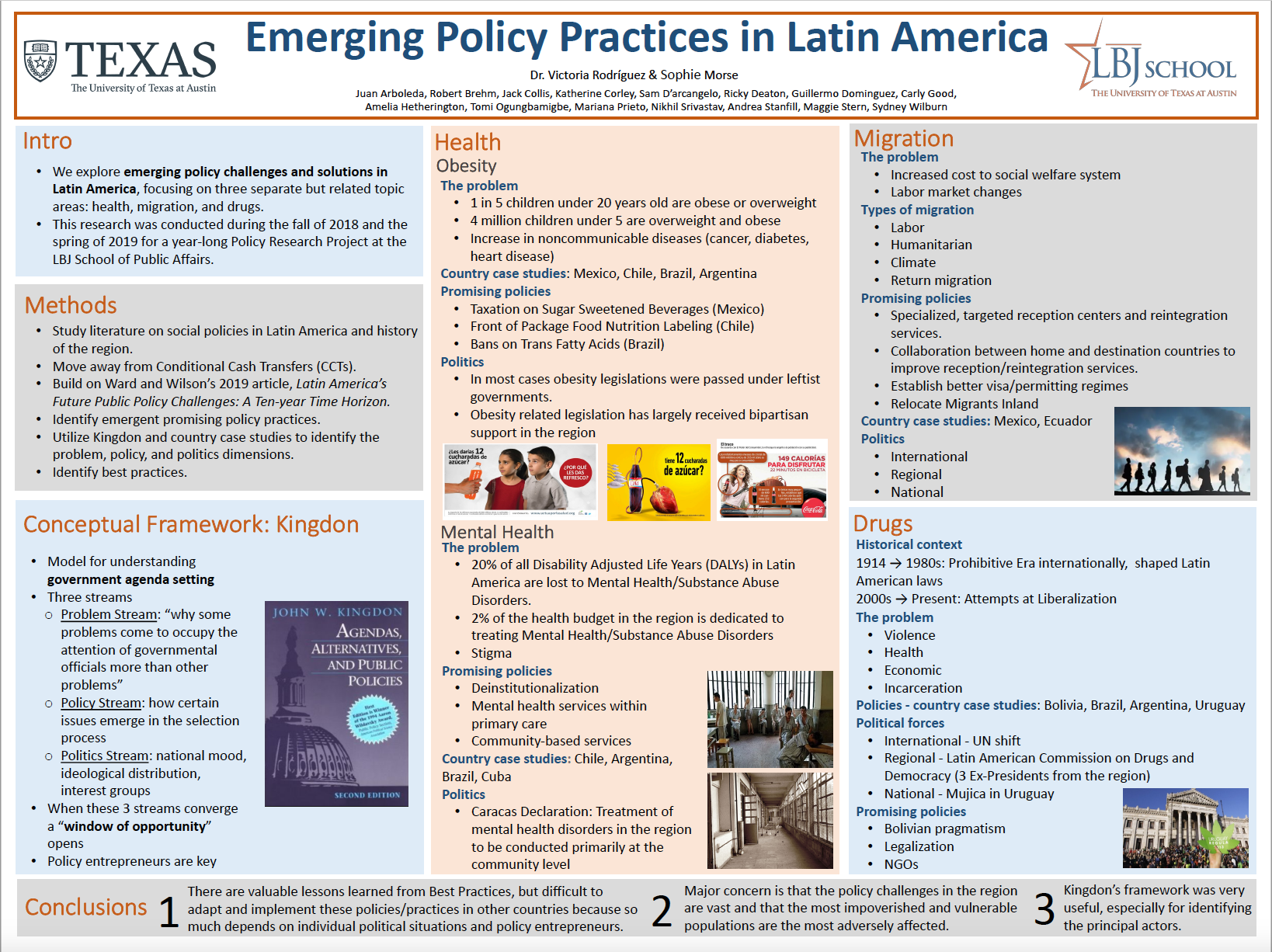 Innovation Bound 2019 research poster: Emerging Policy Practices in Latin America