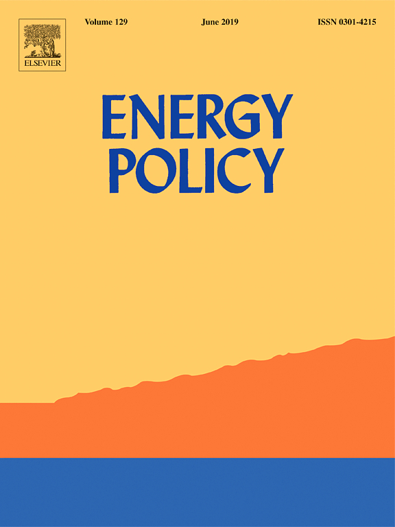 Cover of the journal Energy Policy