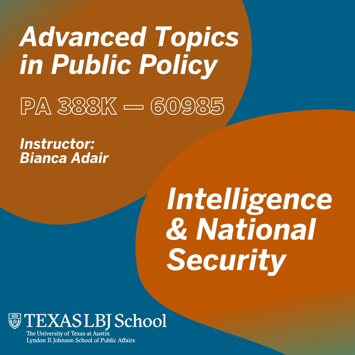 Fall 2021 class: Advanced Topics in Public Policy: Intelligence & National Security