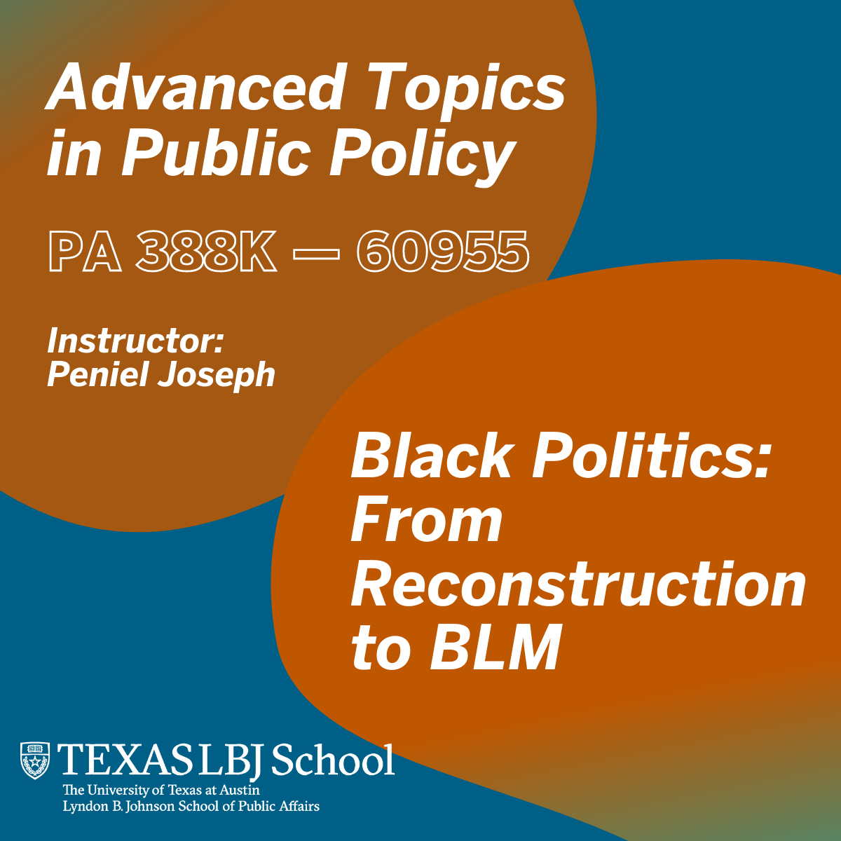 Fall 2021 class: Advanced Topics in Public Policy: Black Politics: From Reconstruction to BLM