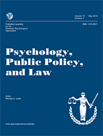 Cover of the Psychology, Public Policy and Law