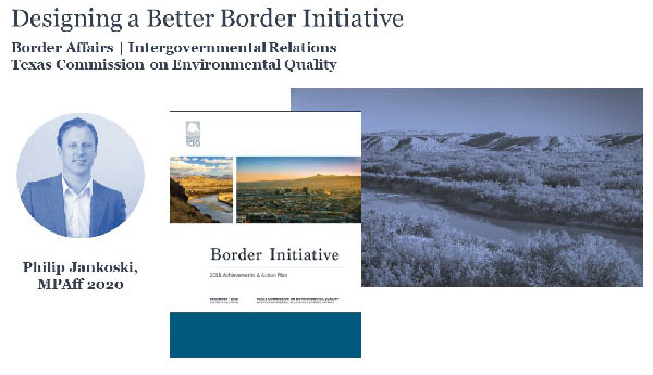 LBJ MPAff student Philip Jankoski's 2019 Border Affairs project