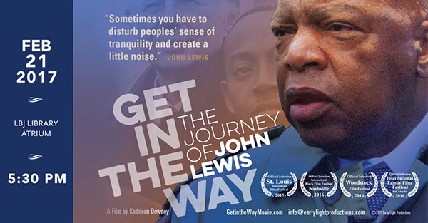 """John Lewis documentary \""""Get in the Way\"""" promotional poster"""