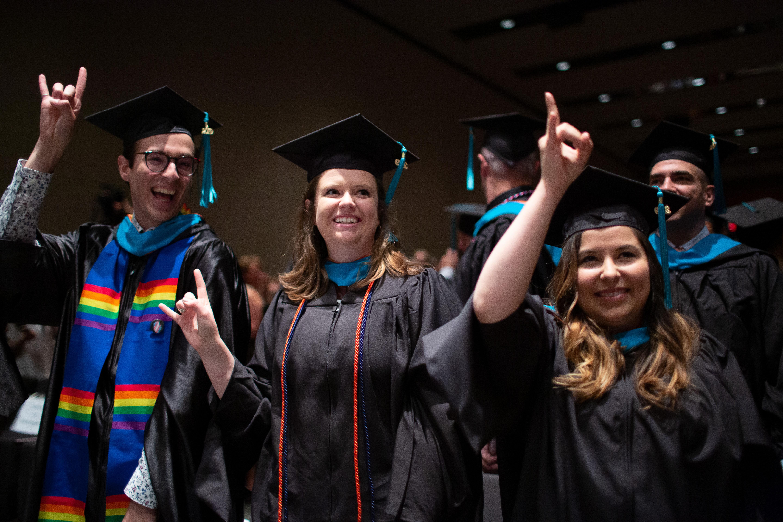 Commencement 2019 —LBJ grads Hook 'em