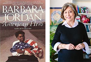 Book cover of Mary Beth Rogers' Barbara Jordan: American Hero and image of Mary Beth Rogers