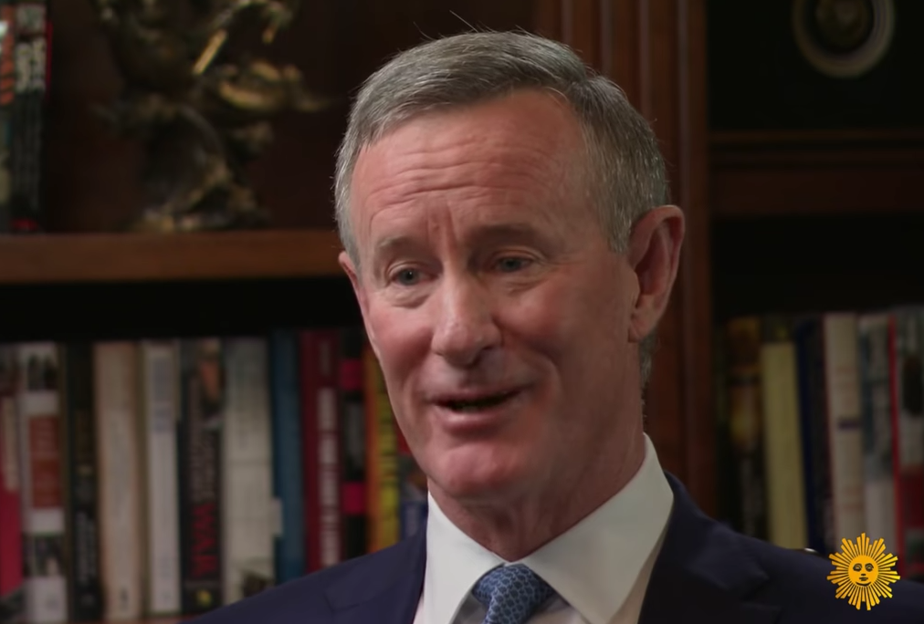 Adm William McRaven in a screenshot from a profile of him on CBS Sunday Morning height=