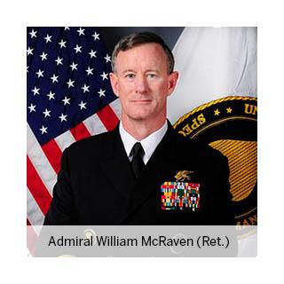 Admiral William McRaven, professor of national security, LBJ School of Public Affairs