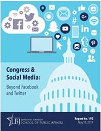 Report cover: Members of Congress & Social Media