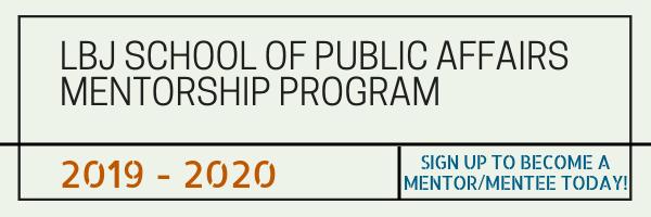 LBJ School Mentorship Program 2019-20
