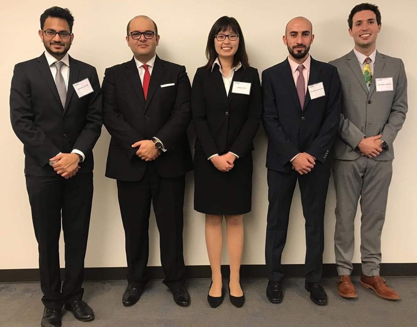 MGPS student Mohamed Abufalgha (second from right) with his team from the Deloitte Case Challenge in fall 2018