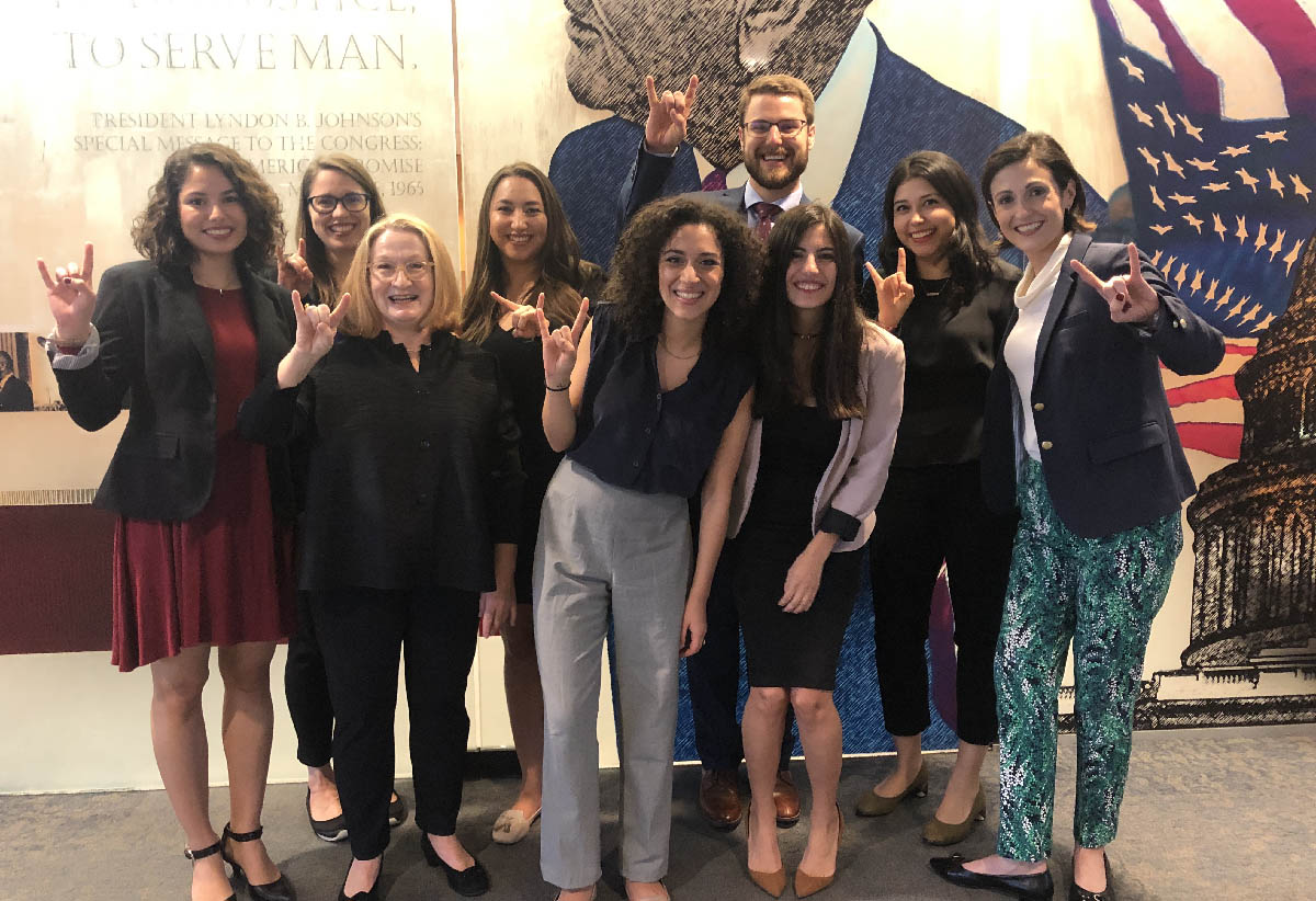 LBJ students and faculty participating in the 2019 NASPAA-Batten Student Simulation Competition on Feb. 23, 2019