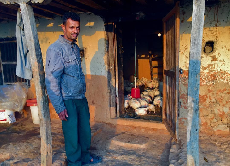 A man with construction supplies in the Kathmandu Valley of Nepal, where a 7.6 earthquake struck in April 2015