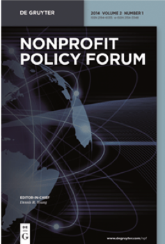 Cover of the journal Nonprofit Policy Forum