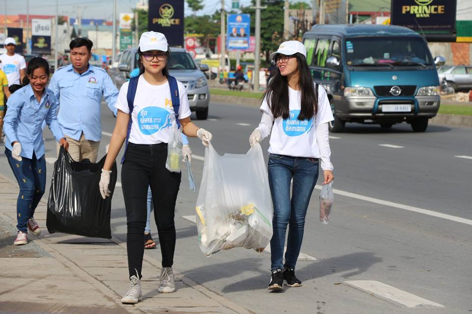 Two students participate in a President's Award-winning research project on waste management challenges in Phnom Penh, Cambodia.