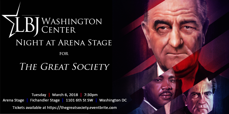 "LBJ Washington Center Night at Arena Stage Theater for ""The Great Society\"" March 8 2018. Washington DC"