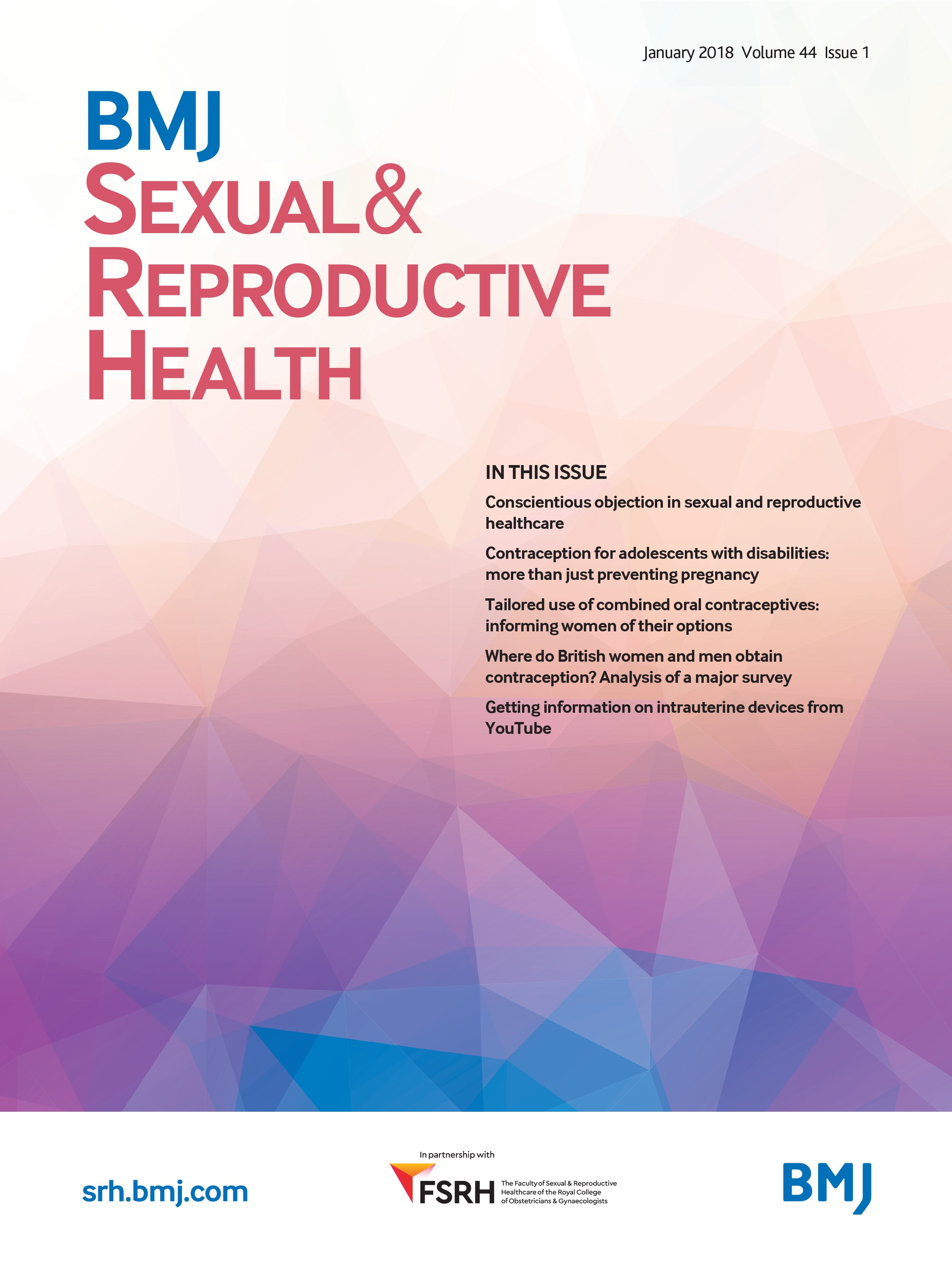 Journal cover: BMJ: Sexual & Reproductive Health