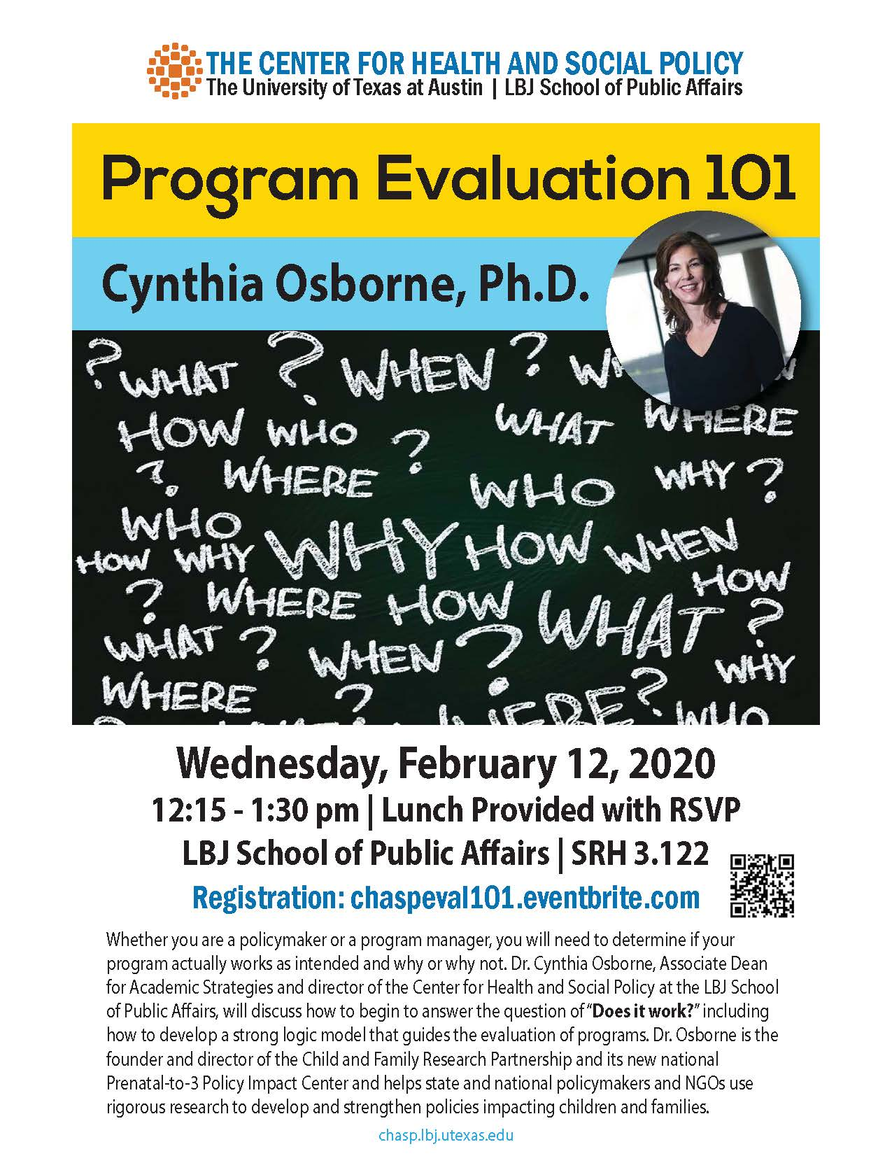 Poster of Program Eval 101