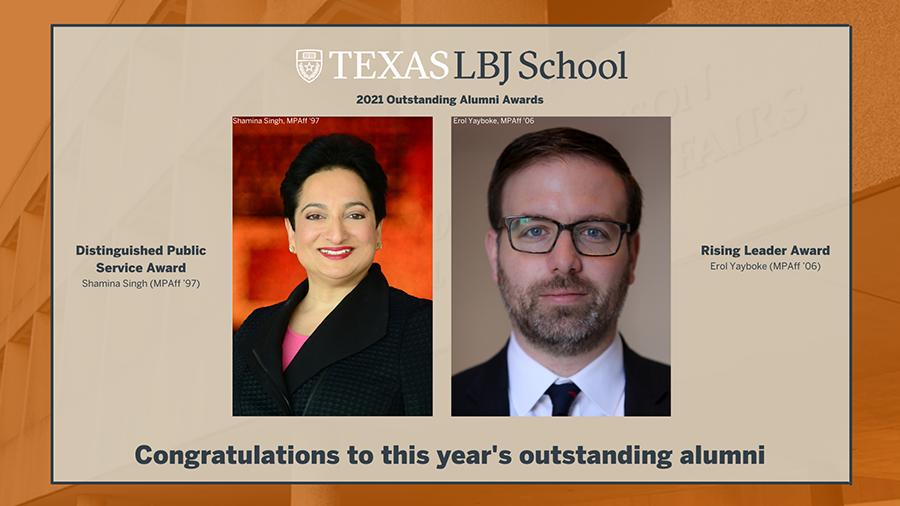 LBJ School 2021 Outstanding Alumni Awards