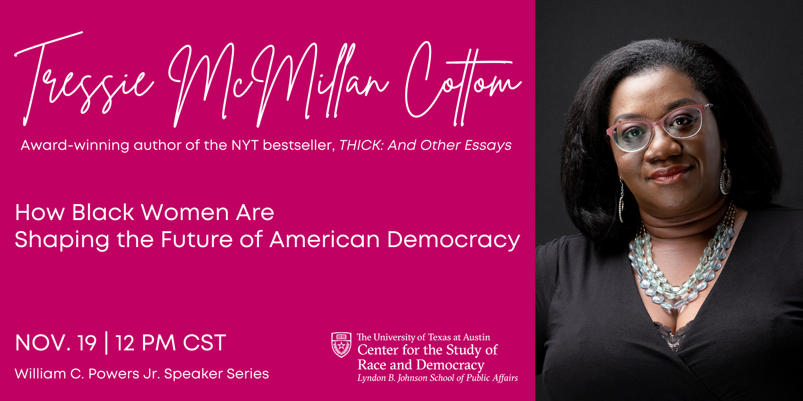 CSRD Webinar: How Black Women are Shaping the Future of American Democracy with Tressie McMillan Cottom