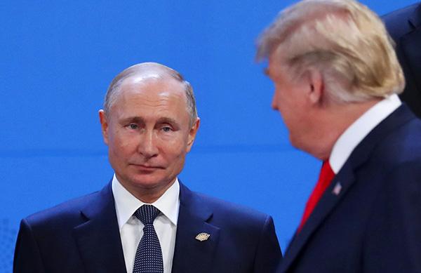 Vladimir Putin with Donald Trump