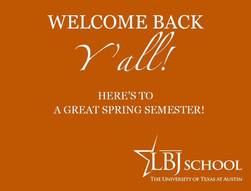 Welcome back to the beginning of the spring 2019 semester