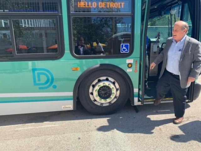 Mayor on bus