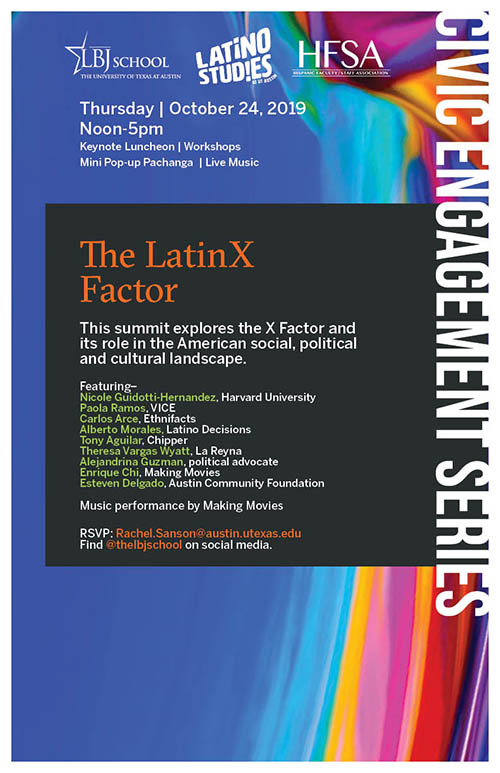 The LatinX Factor conference poster