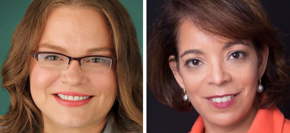 2020 Outstanding Alumni Awards recipients: Lauren Rose (MPAff '10) and Alejandra Castillo (MPAff '98)