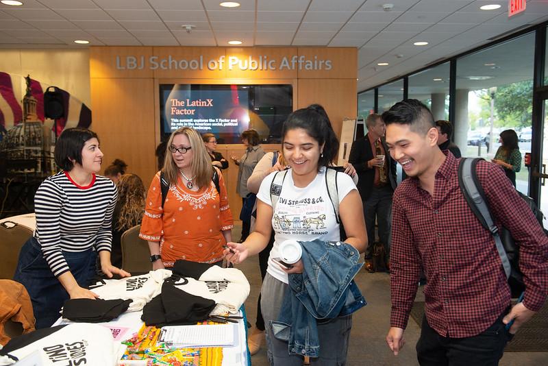 Students participate LBJ School's LatinX Summit.