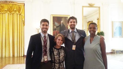 The four Graduate Archer Fellows during their time in Washington, DC