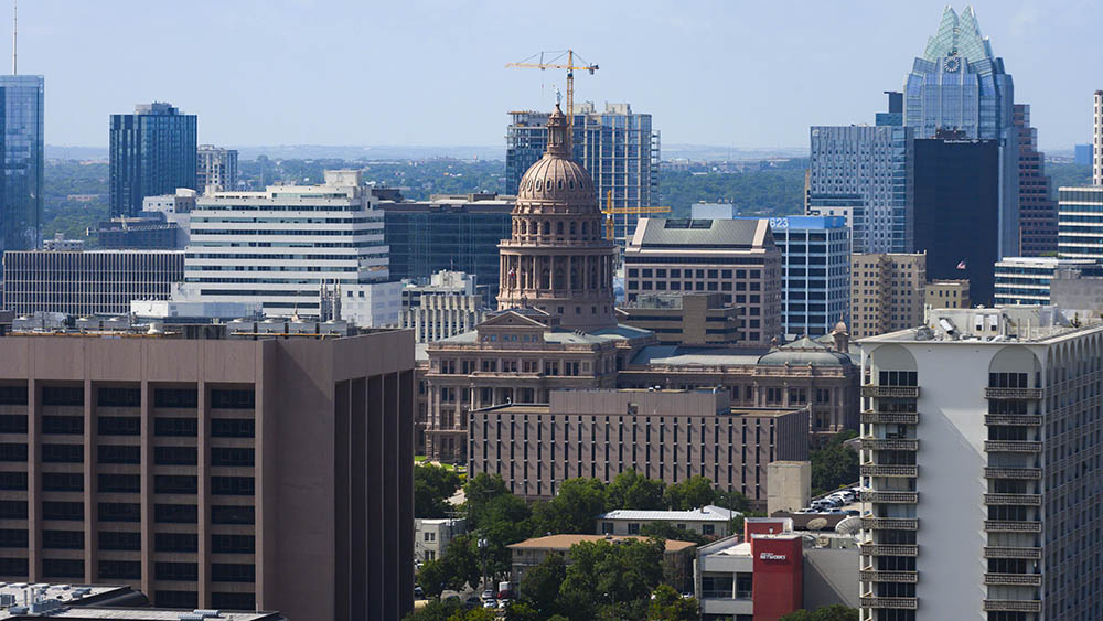 Austin downtown skyline. Credit: Marsha Miller, UT
