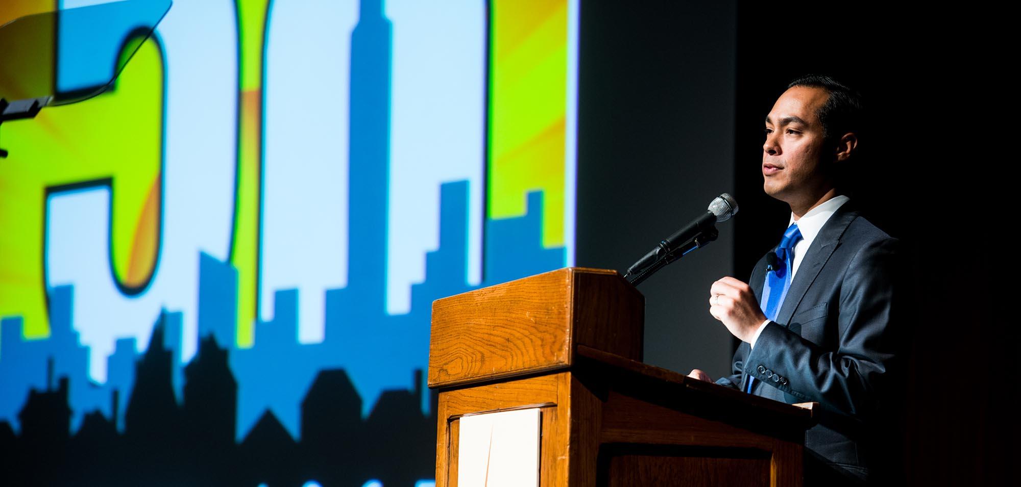 Julian Castro speaks at HUD anniversary