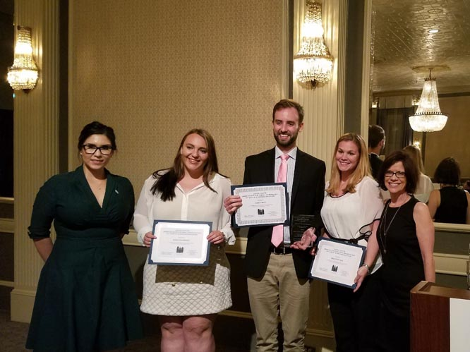 LBJ students presented with an award for outstanding student research in the field of public administration and policy
